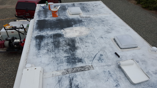 RV Roof Resealing Process